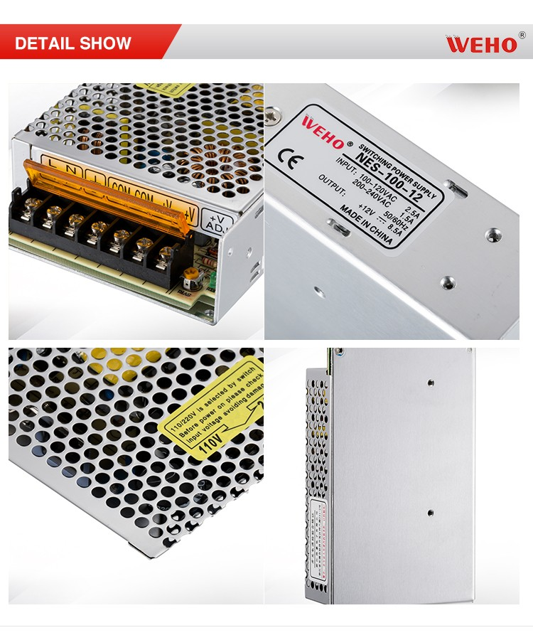 NES 100W single output cctv 8a 12v 100w switching power supply