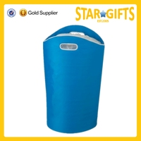 China Suppliers Wholesale Cheap Foam Folding Laundry Basket With Punch Handle