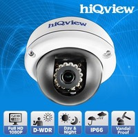 HIQ-5388 Full HD Outdoor IR-15M Vandalproof PoE Dome IP Camera