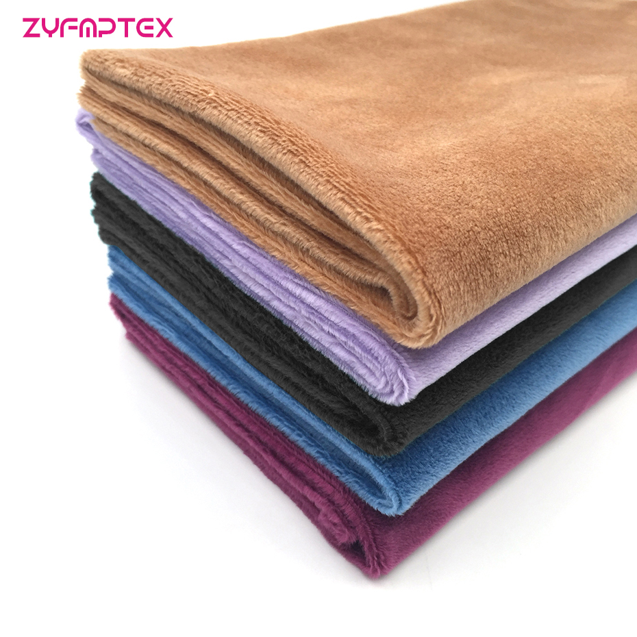 alibaba china shenzhen factory Specializing in the production of polyester plush fabric textile material fabric