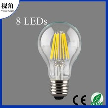 A19/A60 LED Filament Light Bulb,Vintage Look,Energy Saving,8 Watts(80W Incandescent Replacement)