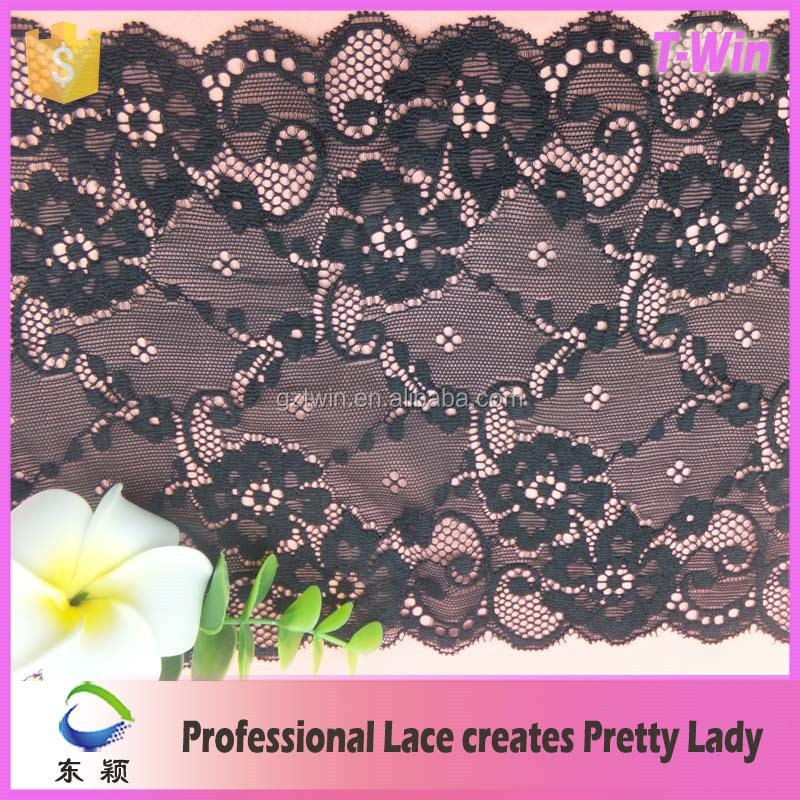 Manufacturer new Lace Trim/Fashion hot fine stretched lace/Wholesale hot bridal corsetted dress lace trim