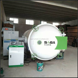 Wood seasoning plant for timber treatment with HF
