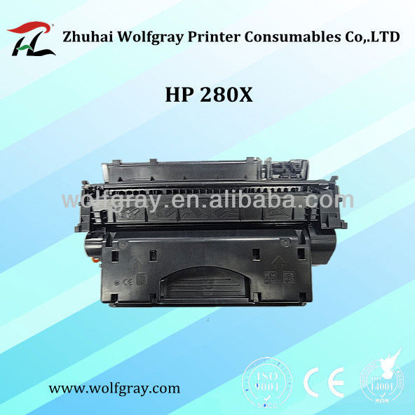black Compatible Toner Cartridge for HP CF280X toner