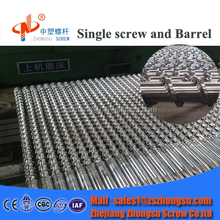 Plastic extrusion screw and barrel for PE extruder machine