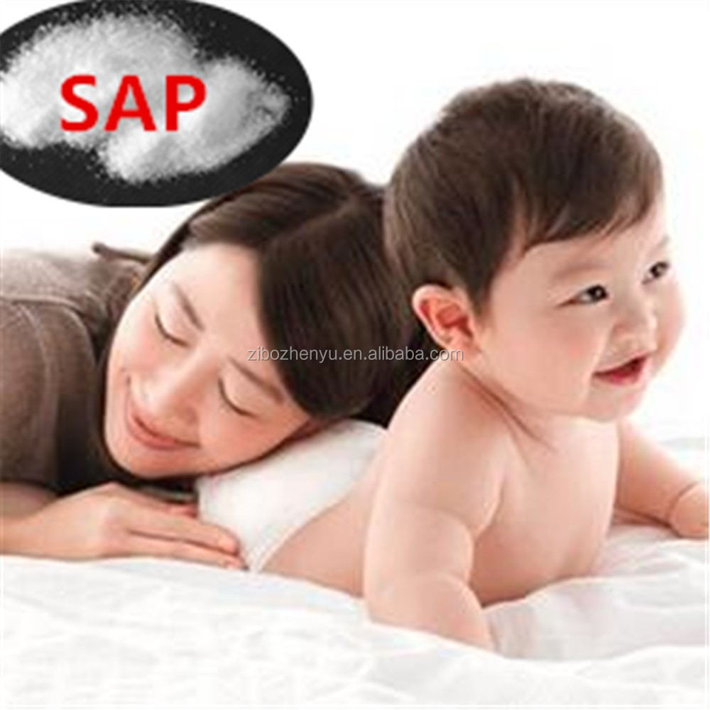 2017 hot sale SAP super absorbent polymer for manufature pamper diapers