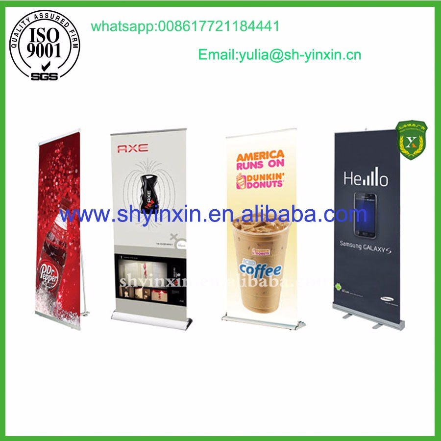 OEM pvc ecofriendly printing fabric display roll up banner stand