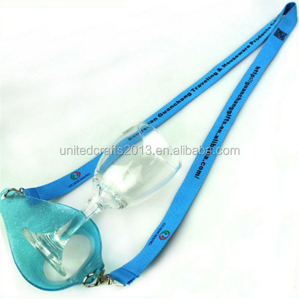 2016 High Quality Plastic Case Lanyard Whisky Drink Sling