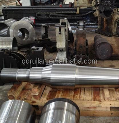 Hydraulic Press Free Forged Steel Shaft / Gear Shaft Forging With Normalizing + Tempering