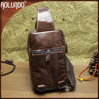 Hot Selling Italian Men Genuine Leather Shoulder Bag