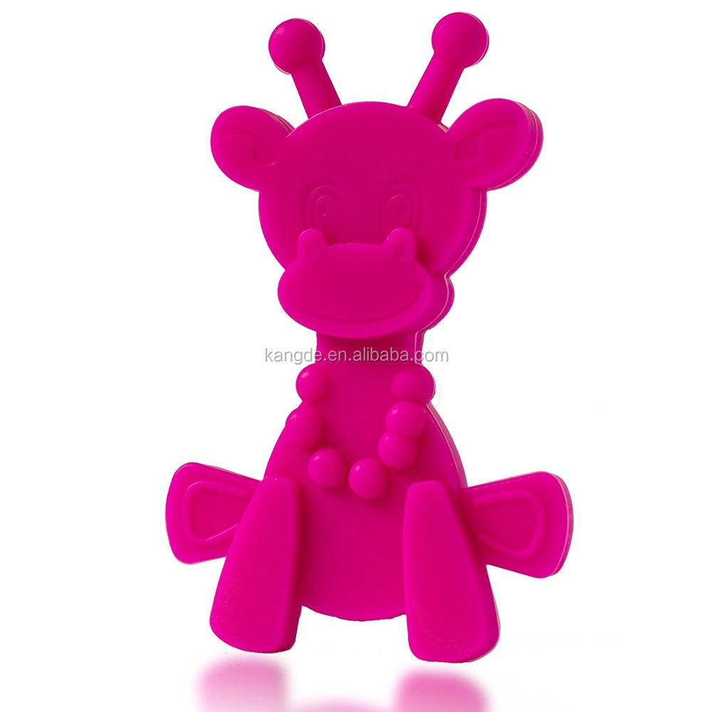 New 2017 Amazon Hot Sale Little bamBAM Giraffe Silicone Teether Toys