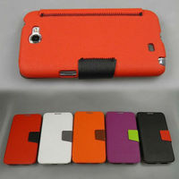 fashionable credit card slot wallet leather case for samsung galaxy note 2 N7100