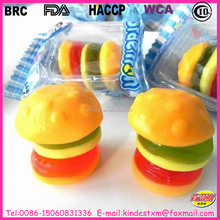 Gummy burger packed in individule wrapper from BRC, FDA certified factory
