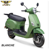 BLANCHE 125CC JNEN Motor New Design 2016 Retro Model Scooter Peda Motorcycle With CE EEC DOT Euro IV VESPA LX ROME