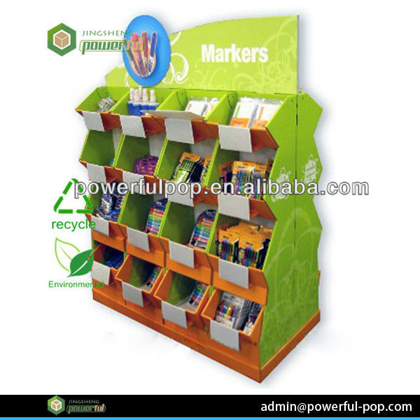 paper/cardboard display for meeting retailer guidelines,with graphic design CMYK 4C printing on