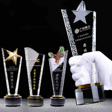 wholesale new design custom crystal trophy and awards With Engraved Logo