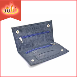 TOP-61014 Yiwu Jiju Mix Design Leather Tobacco Pouch, Golden Virginia Tobacco Pouch For Cigarette Smoker