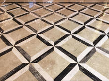 Absolute natural black and white marble decorative floor tile designs