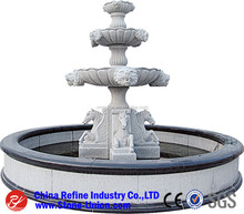 2016 hot sale garden decor marble three layers outdoor water fountain,Marble Sculptured Fountain