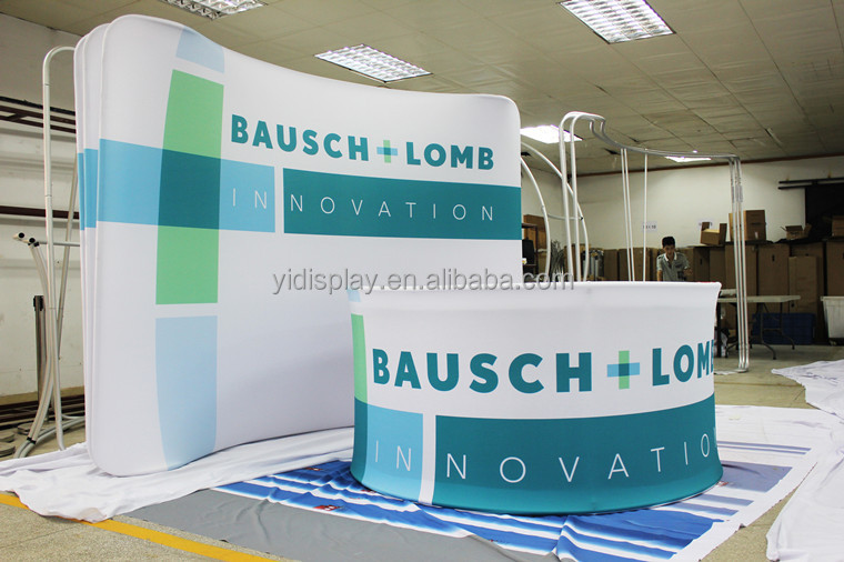 Expo Stand Backdrop : Advertising graphic pop up display stand for trade show