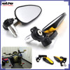 "BJ-RM-073 Dirt Bike 7/8"" Handlebar End Mirrors Folding Universal 22mm Handle Bar End Side Mirror"