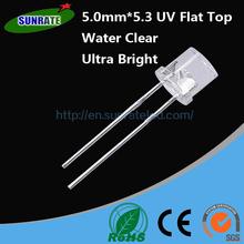 Over 20 Years Experience Ultra Bright High Quality 5mm*5.3 UV Flat Top Lamp LED Purple Diode Light