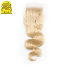 High quality virgin human hair 613 brazilian hair bundles with lace closure