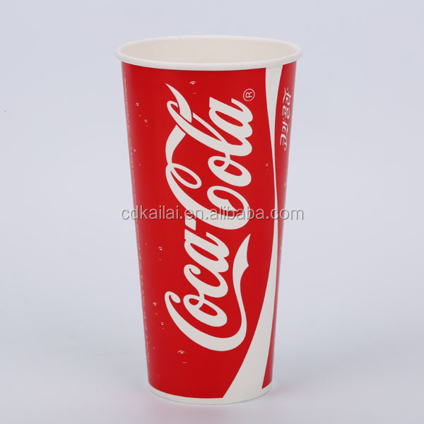 disposable water cup cola single wall pepsi soft drink paper cup