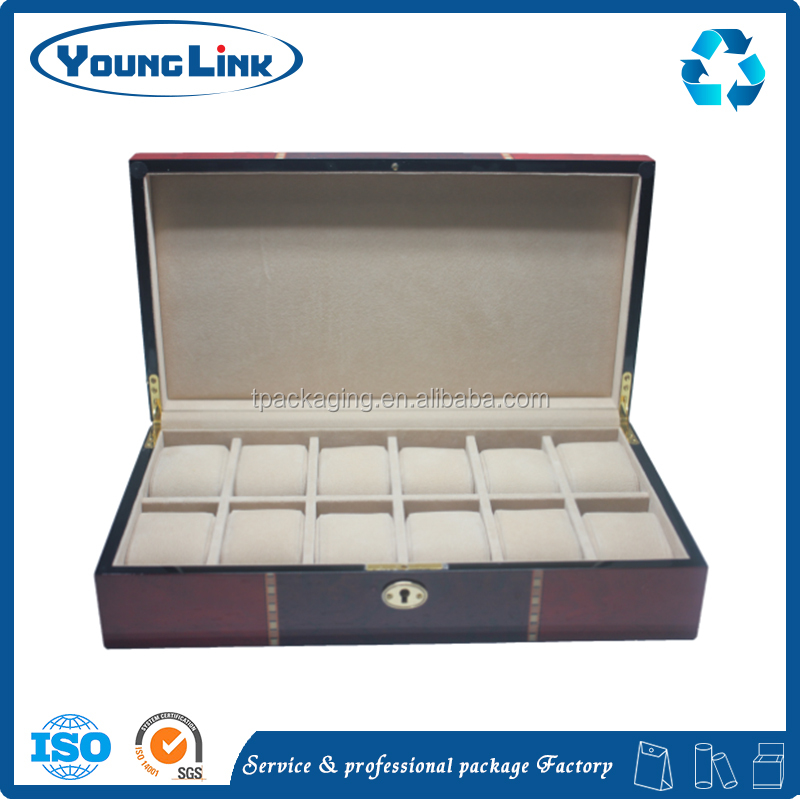 high quality handmade mdf custom packaging wood box for watch