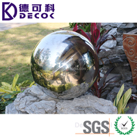 Factory price 304 grade large hollow stainless steel garden gazing ball