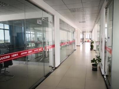 Inside of office building