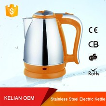 Electroplated ABS handle cool design electric water kettle/tea pot 1.8L