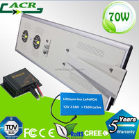 Outdoor prodcuts light fixtures in china all in one dlc led solar street lights