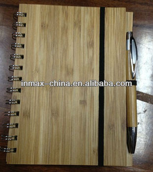 Eco Recycled paper notebook with pen