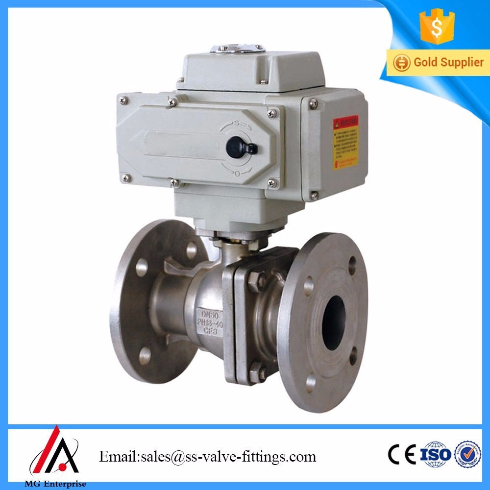 Electric flanged ball valve Petroleum and petrochemical industry