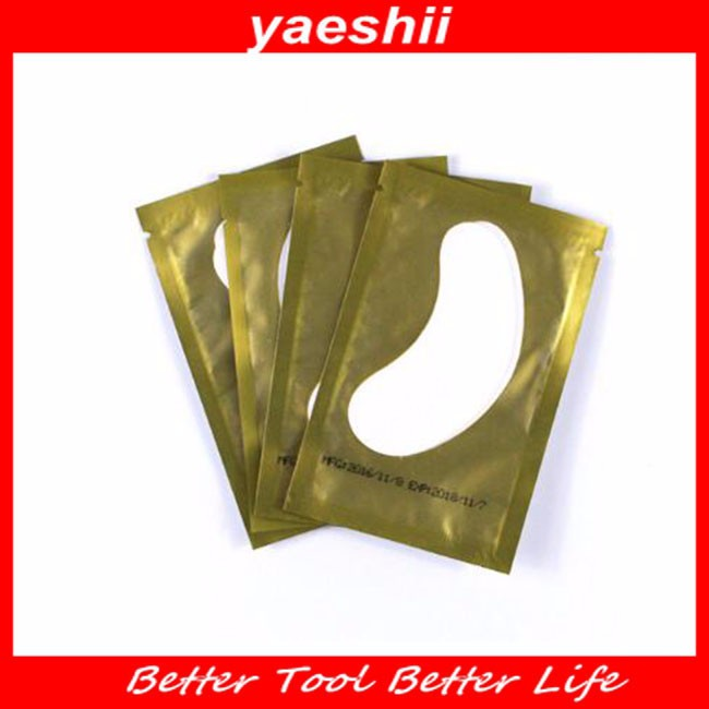 YAESHII 100 Pairs Set,Under Eye Pads, Lint Free Lash Extension Eye Gel Patches for Eyelash Extension Eye Mask Beauty Tool