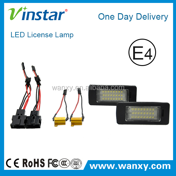 Canbus LED License Plate Lamp Canbus LED Car Tuning Light For Audi Q5 with E-mark E4 CE Certificates