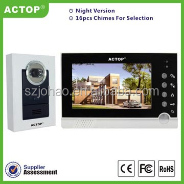 ACTOP smart home products wired video door phone cheap with unlock eletronic lock