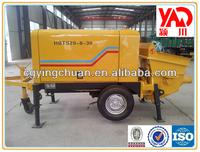 PLC Small Trailer Concrete Pump HBTS20-8-30