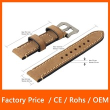 Genuine Crazy Horse Leather 38 mm and 42mm Wrist Watch with Classic Buckle Design Strap Watch Band for Apple Watch