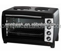 Mini electric toaster oven 9L with 2slice plates