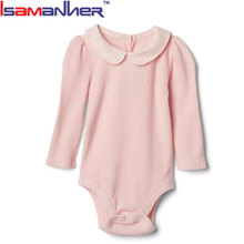 OEM orders plain black baby bodysuit, baby girls solid color infant rompers