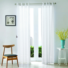 Fancy White Burnt-out Voile Curtain Grommet Curtains for Home / Living Room / Bedroom/Hotel
