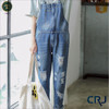 Lady overall fashion denim jean long jumpsuit