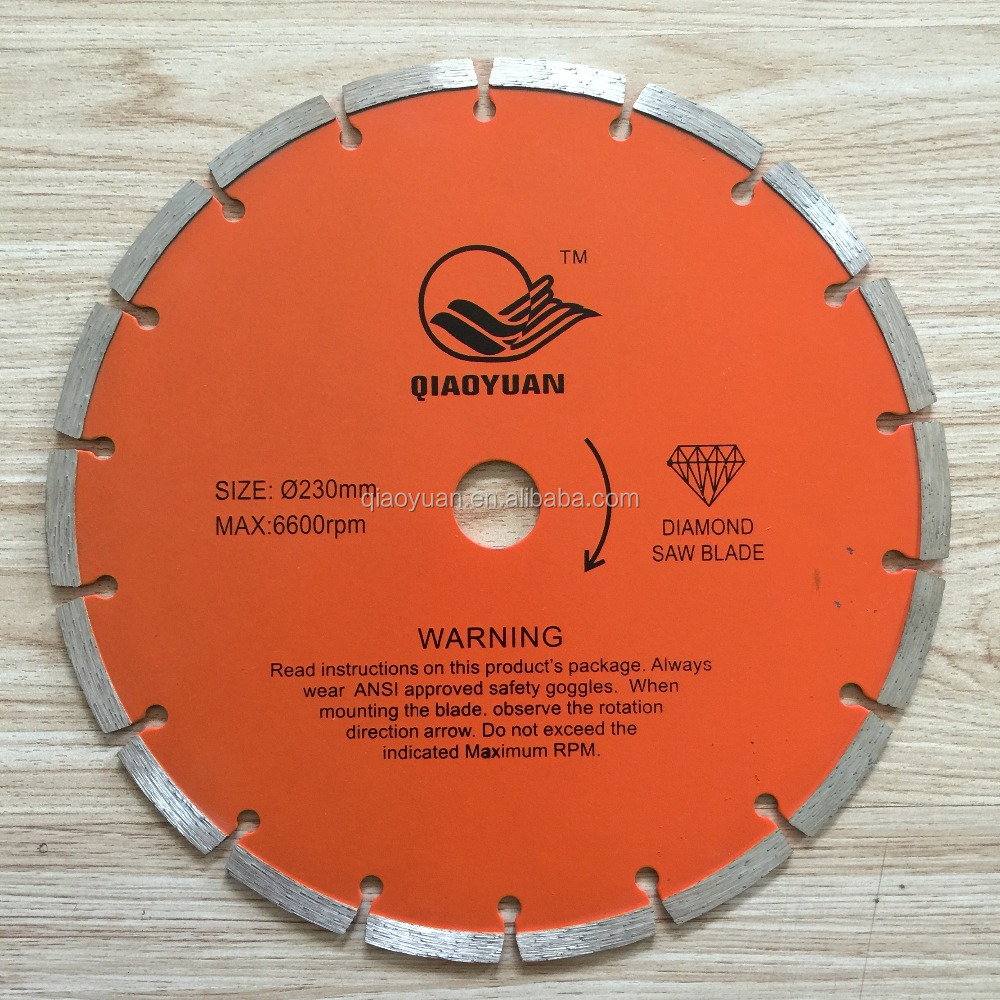230mm Segment dry/wet cutting diamond saw blade for stone