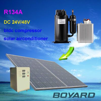DC 48v solar power car air conditioner 12v/24v cab aircondition of truck electric-vehicle refrigerator freezer