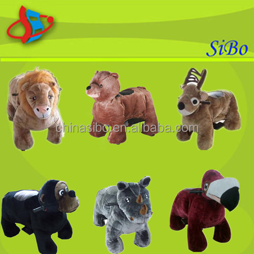 GM59 CE sibo electronic stuffed toy horse ride walking animal rider for kids