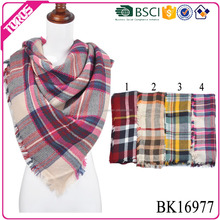 Passed BSCI test new style fashion scarf, woven fashion scarf plaid,blanket fashion scarf shawl