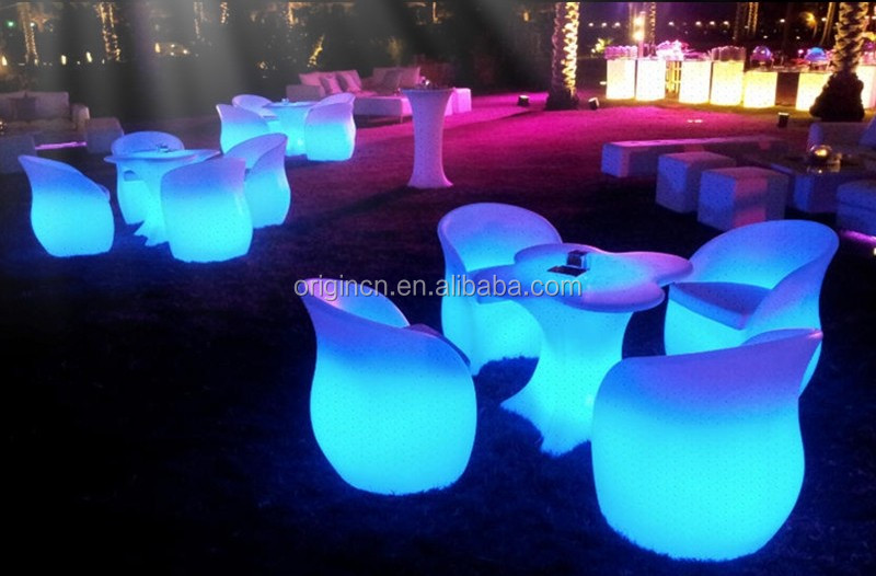Unique flower shaped outdoor led furniture for event luminous night club  chairs - Unique Flower Shaped Outdoor Led Furniture For Event Luminous Night