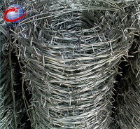 Traditional twist 2 strands 4 barbs galvanized barbed wire price